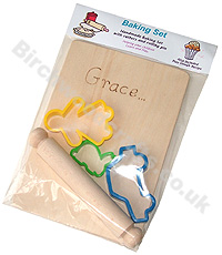 Children's / Kids Personalised Wooden baking set £4.99