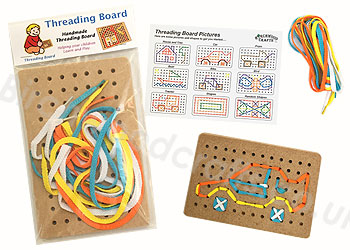 Children's / Kids Wooden Threading Board £3.99 each