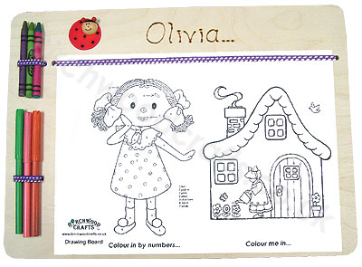 Children's / Kids Personalised Wooden drawing boardx £6.99