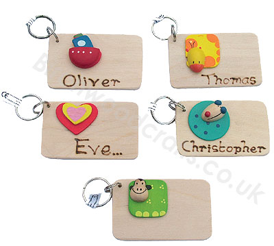 Children's / Kids Personalised Wooden Keyring £1.99