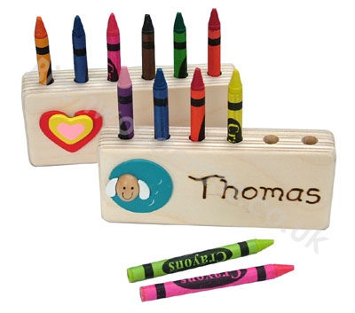 Children's / Kids Personalised Wooden Crayon Block £3.99