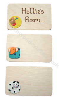 Children's / Kids Personalised Wooden Room Plaque £2.50 each