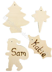 Personalised Christmas Decorations £1 each